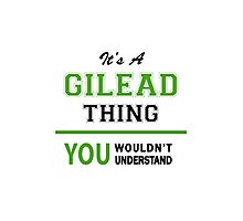 It's a GILEAD thing, you wouldn't understand !! Photographic Print