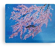 Love among the cherry blossoms Metal Print