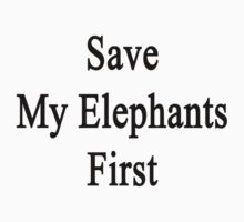 Save My Elephants First  by supernova23