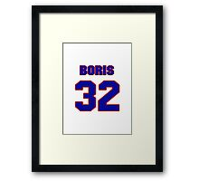 Basketball player Boris Diaw jersey 32 Framed Print
