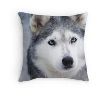 Blue eyed girl  Throw Pillow