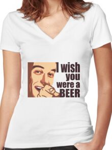 Beer t-shirt Women's Fitted V-Neck T-Shirt