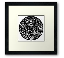 Valentine Circle of Hearts Aussie Tangle Transparent Framed Print