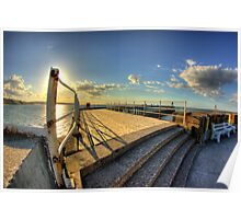 Whitby Pier HDR Poster