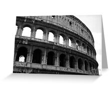 Before entering the Colosseum Greeting Card