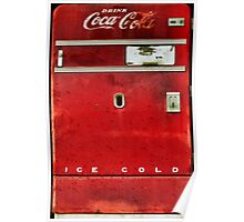 Old Coca-Cola Machine Poster