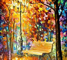 Lost Bench — Buy Now Link - www.etsy.com/listing/217374447 by Leonid  Afremov