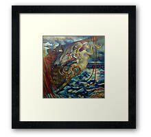 figurehead or ... fishing Framed Print