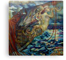 figurehead or ... fishing Canvas Print