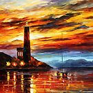 By The Lighthouse — Buy Now Link - www.etsy.com/listing/217775696 by Leonid  Afremov