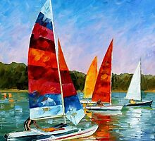 Catamaran — Buy Now Link - www.etsy.com/listing/217641071 by Leonid  Afremov