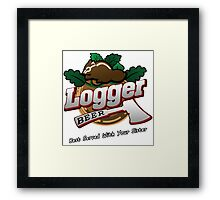 Logger Beer Tee from Grand Theft Auto - GTA Framed Print