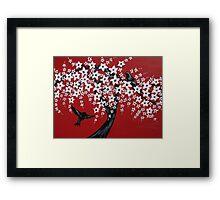 Red sakura bliss Framed Print