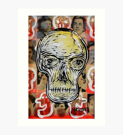 Skull Man Art Print