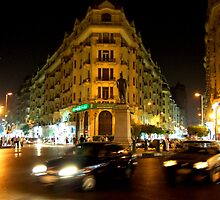 In the middle of Cairo by Baha Mosa