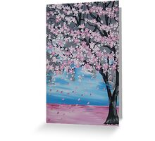 Blossoms blowing in the wind Greeting Card