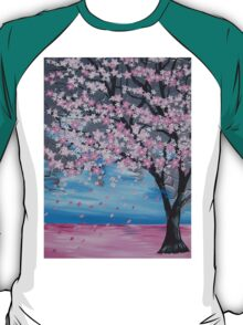 Blossoms blowing in the wind T-Shirt