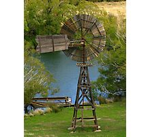 Wooden Windmill Photographic Print