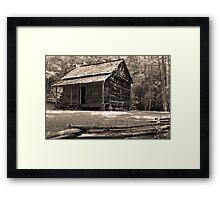 John Ownby's Cabin Framed Print