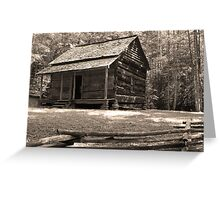 John Ownby's Cabin Greeting Card