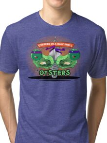 Oysters In A Half Shell Tri-blend T-Shirt