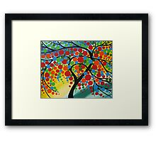 Orb Tree Framed Print