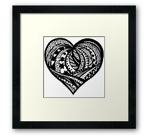 Valentine Heart 5  Aussie Tangle - see Description Notes re background colours Framed Print