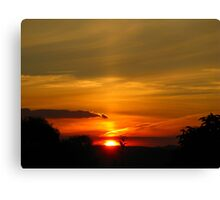 Sunset out West Canvas Print