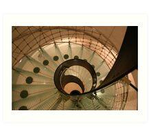 Glass Spiral Staircase in Vienna Art Print