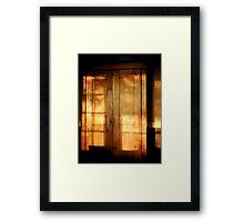 Cabinet Burnish At Sunset Framed Print