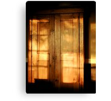 Cabinet Burnish At Sunset Canvas Print
