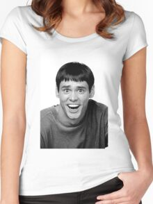 Jim Carrey from Dumb and Dumber Women's Fitted Scoop T-Shirt