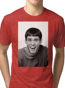 Jim Carrey from Dumb and Dumber Tri-blend T-Shirt