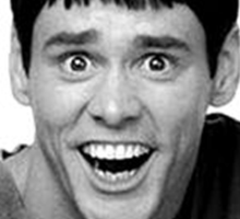 Jim Carrey from Dumb and Dumber Sticker