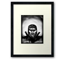 Spartan Enemy Framed Print
