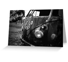 rust bus Greeting Card