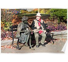 Enjoying a Chat in the Park, Vancouver, Canada  Poster