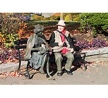 Enjoying a Chat in the Park, Vancouver, Canada  Photographic Print
