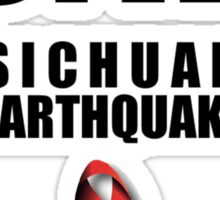 Sichuan Earthquake Relief Ribbon 2 Sticker