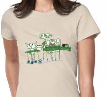 Monkey Dinner t-shirt Womens Fitted T-Shirt