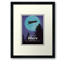 88mph (ET Movie Poster Parody) Framed Print