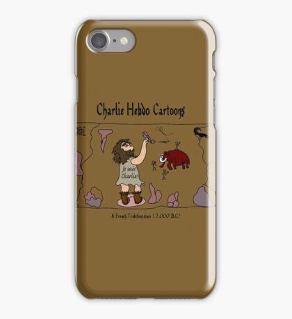 CHARLIE HEBDO cartoons...since 17,000 B.C.! iPhone Case/Skin