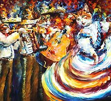 Mariachi Cats — Buy Now Link - www.etsy.com/listing/217507209 by Leonid  Afremov