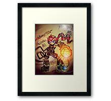 Dunk Master megaman Framed Print