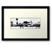 city suicide Framed Print