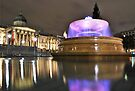 Pink Lights of Trafalgar Square by Alessandro Pinto