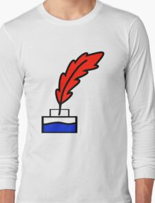 Writing Quill Long Sleeve T-Shirt