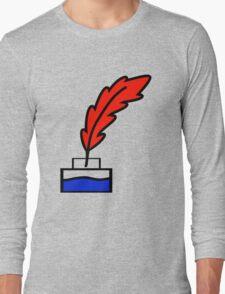 Writing Quill Long Sleeve T-Shirt