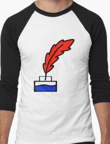 Writing Quill Men's Baseball ¾ T-Shirt