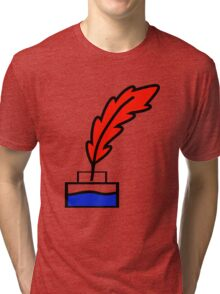 Writing Quill Tri-blend T-Shirt